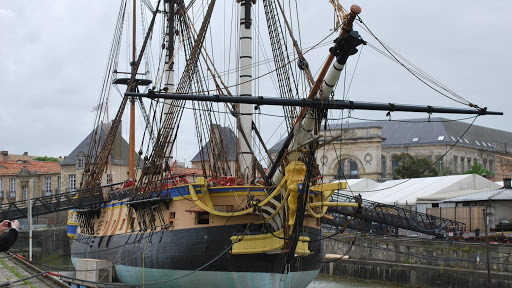 Rochefort : reconstruction of the Hermione (Lafayette's ship)
