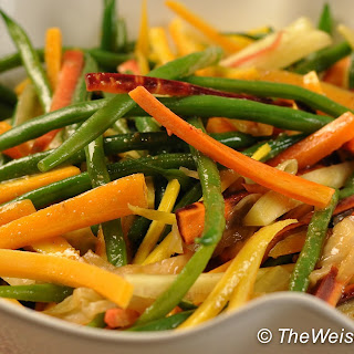 Tricolor Green Bean and Carrot Salad.