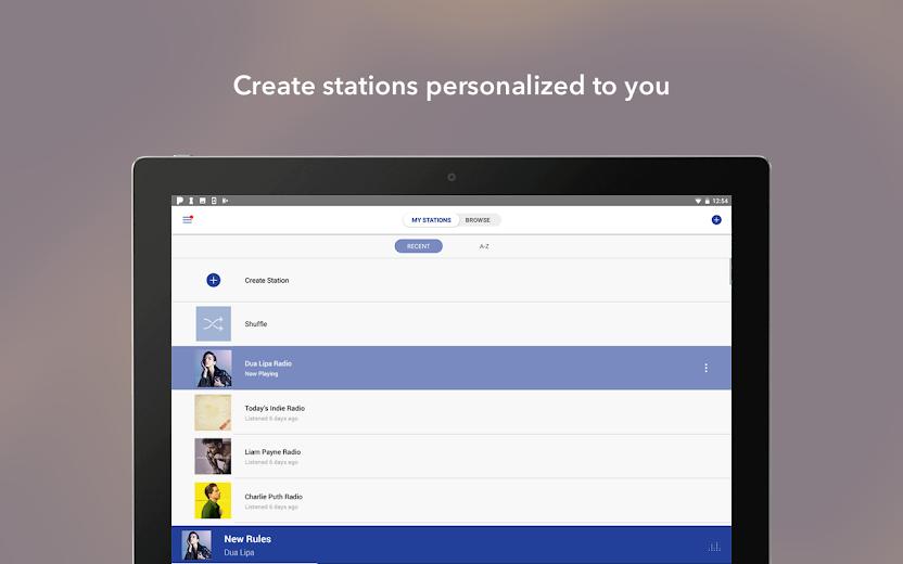 Screenshot 11 for Pandora's Android app'