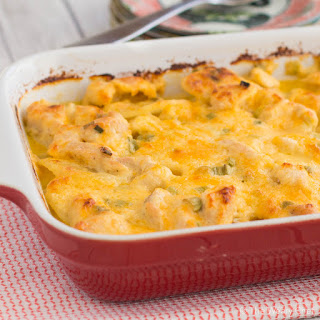 Main Dish Cheesy Scalloped Potatoes Recipe with Chicken.