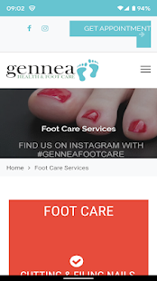 Gennea Health And Foot Care Screenshot