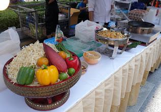 Photo: Yummy. We have the banana flower in a salad!