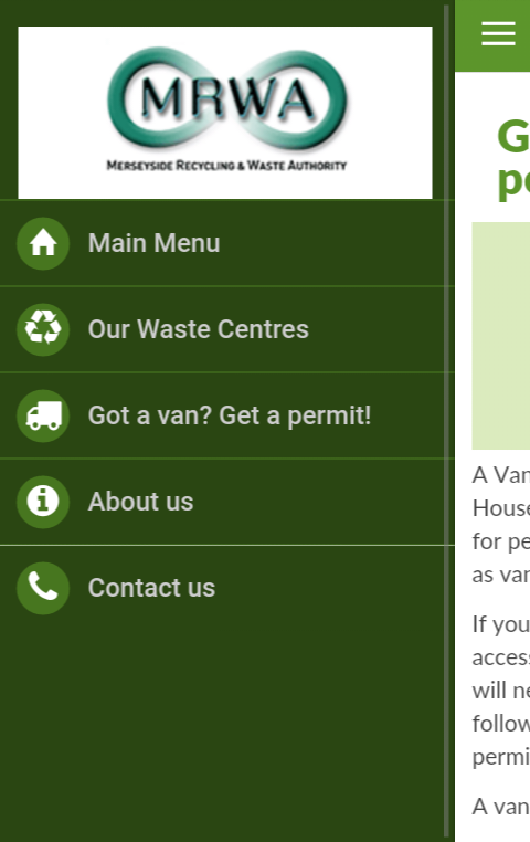 Merseyside Recycling- screenshot