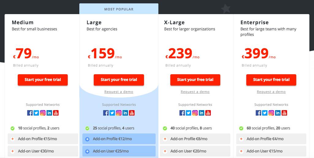 Agorapulse price