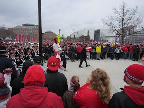 Photo: Band heading to the stadium before the Michigan game