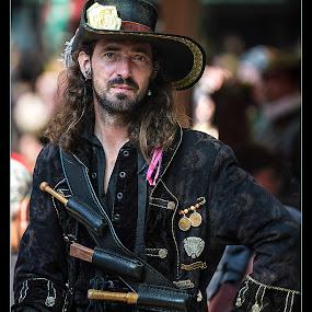 Swashbuckler by Elk Baiter - People Portraits of Men ( swashbuckle, pirate, maryland, festival, renaissance, hat,  )