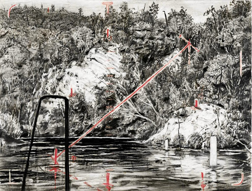 William Kentridge: Deep Poolfrom the series Colonial Landscape. Picture: SUPPLIED