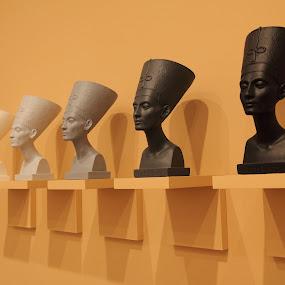 Nefert iti by Joseph Escopin - Artistic Objects Still Life ( modern, sculpture, bust, nefertiti, art )