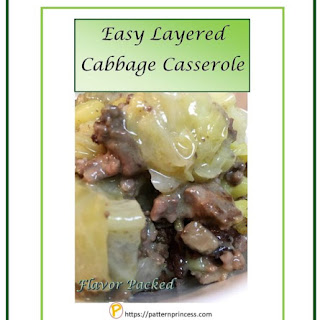 Easy Layered Cabbage Casserole.