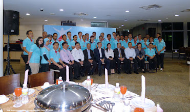 Photo: Dinner function on the eve of departure to Kota Kinabalu (28 October 2013)