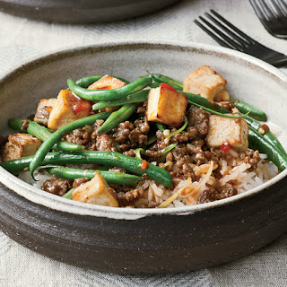 Spicy Green Bean and Tofu Stir-Fry with Ground Bison
