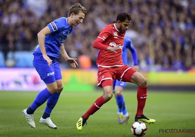 Faris Haroun (Antwerp) regrettait la grosse occasion manquée en début de match à Genk