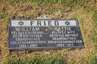 Photo: William and Hattie Bernstein Fried