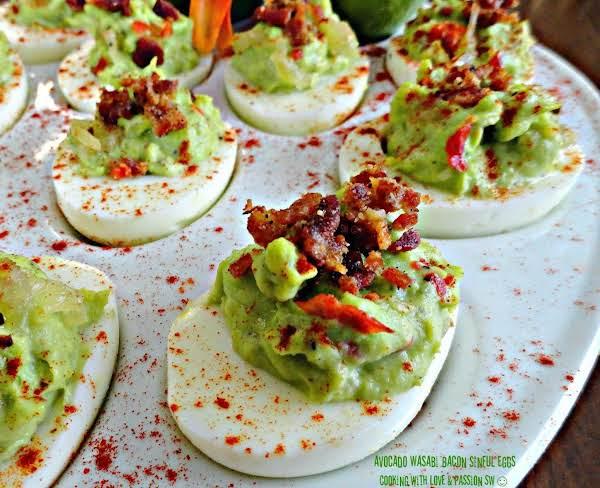 Avocado Wasabi Bacon Sinful Eggs Recipe