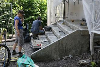 Photo: Reparatur der Nord-Treppe