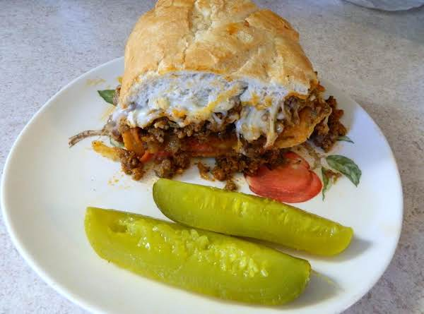 Super-size Stromboli Sandwich