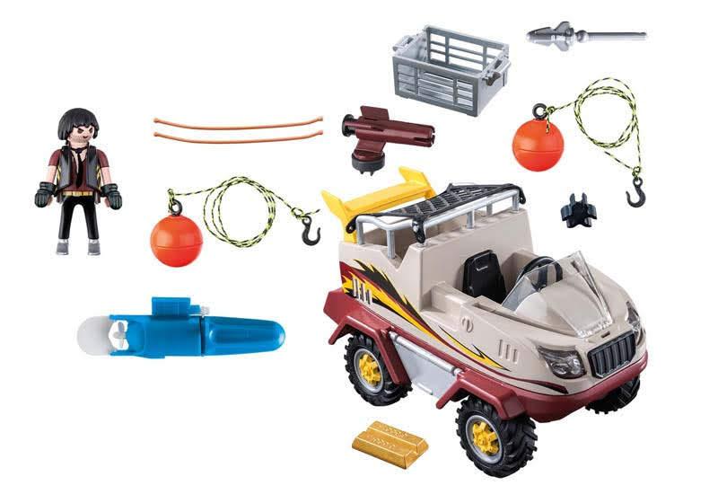 Contenido real de Playmobil® 9364 Coche Anfibio