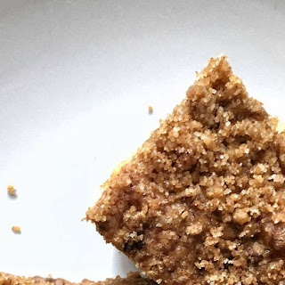 Coffee Crumb Cake with Walnuts.