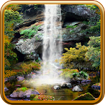 3D Autumn Waterfall Wallpaper Icon