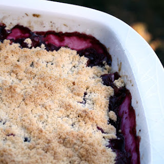 Rhubarb, Strawberry & Blueberry Crumble