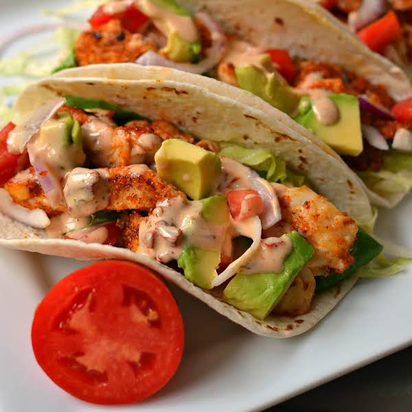 Chicken Tacos Combine Seasoned Chicken, Crisp Lettuce, Sun Kissed Tomatoes, Sweet Red Onion And Buttery Avocado Drizzled With A Chipotle Ranch Dressing.  This Delicious Recipe Can Be On The Table From Start To Finish In 30 Minutes.