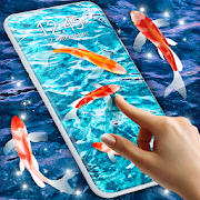 Koi Live Pond 3D \ud83d\udc1f Fish HD Live Wallpaper Free