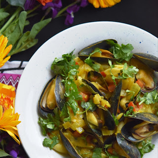 Coconut Curried Mussels.