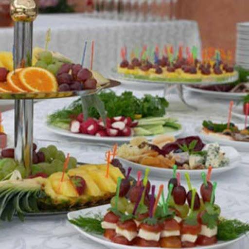 結婚式の食品の装飾
