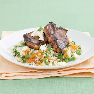 Minted Lamb with Pea Couscous