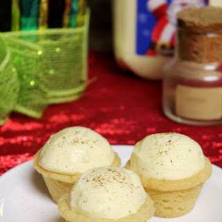 Eggnog Mousse Sugar Cookie Cups