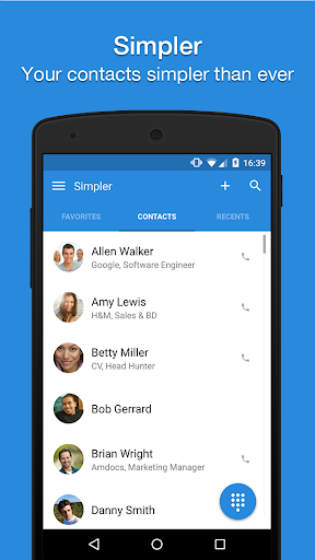 Simpler Contacts Dialer