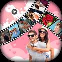 Valentine Day Video Maker 2018 - Slideshow Maker icon