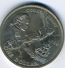 Photo: NZ Dollar coin produced  - back (courtesy of Joseph Jetton, 1967-70, ETN3)