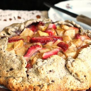Strawberry Apple Stracciatella Pie