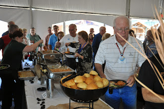 Photo: serving line in the pavilion