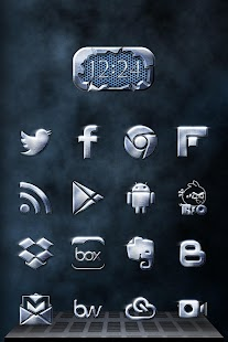 Metallic Icon Pack Theme - screenshot thumbnail