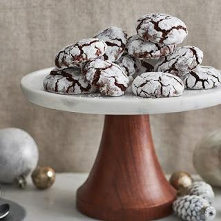 Coffee Chocolate Crinkle Cookies.