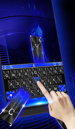 Download Cool Blue Light Keyboard Theme MOD APK 2