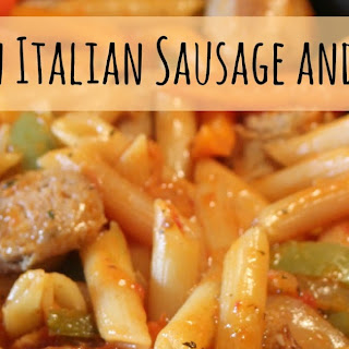 One Pan Italian Sausage and Pepper Pasta.