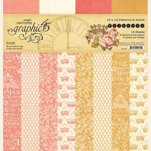 Princess 12x12 Patterns & Solids Pad