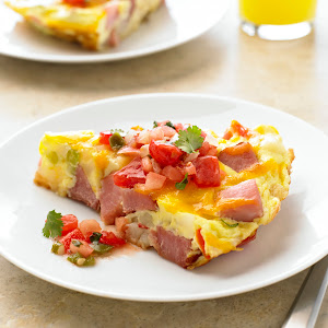 Ham And Ranch Potato Fritatta