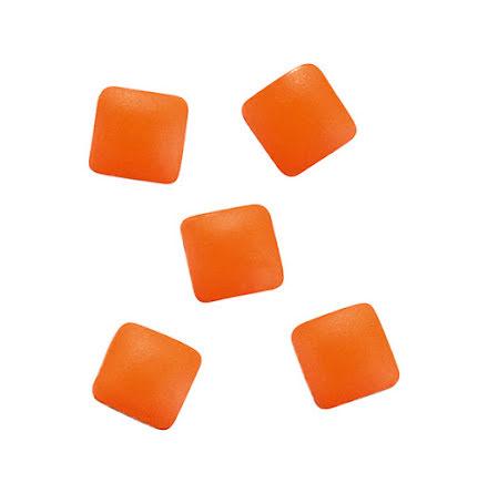 Metallic nageldekoration - studs orange