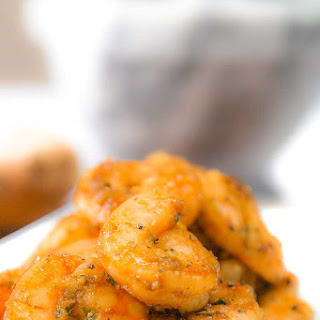 SAUTEED SHRIMPS with basil and ginger pesto