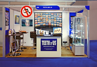 """Photo: Our Teeth""""R""""Us stand at the BDTA, Birmingham NEC - Phot courtesy of Ulrich Heker"""