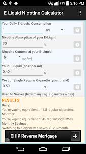 E-Liquid Nicotine Calculator screenshot 0