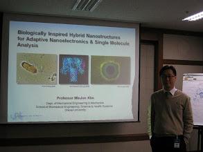 Photo: Invited seminar at ETRI in Korea, December 2010