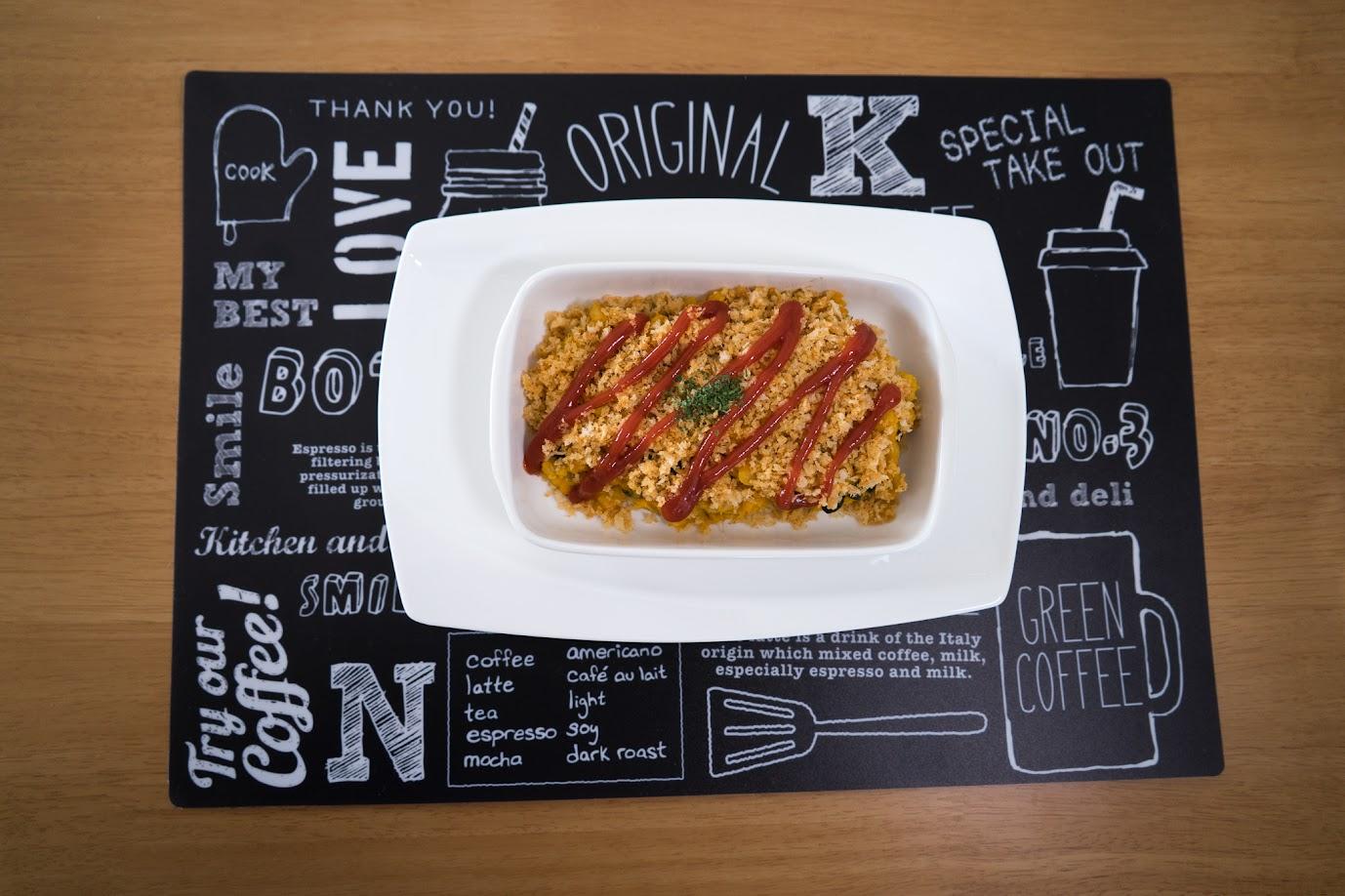 黒千石大豆と南瓜のスコップコロッケ:パセリをかけて、完成!