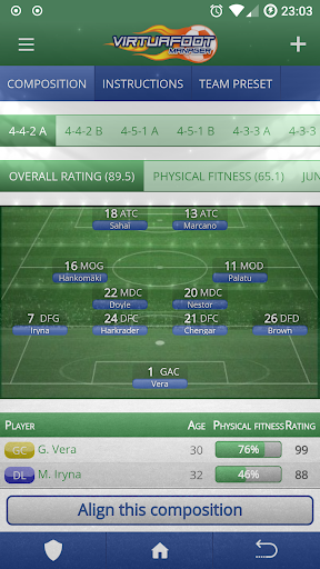 Virtuafoot Football Manager  screenshots 2