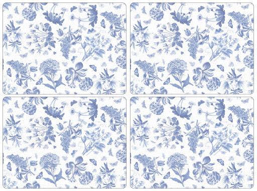 Botanic Blue Bordssunderlägg 4-pack