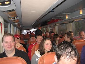 Photo: Met de bus vol familie naar Schiphol.